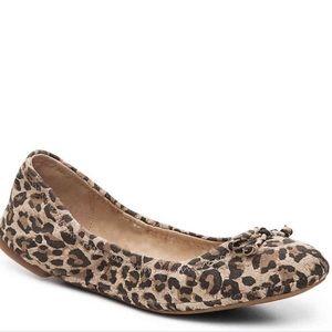 LUCKY BRAND Eadda leopard print bow flat